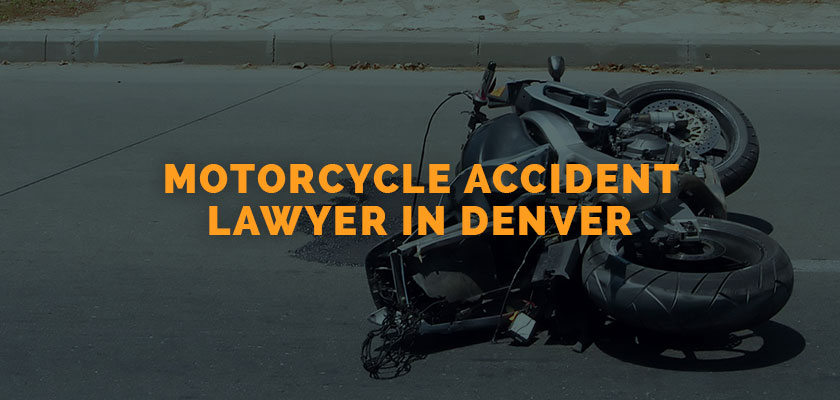 Damaged motorcycle after collision