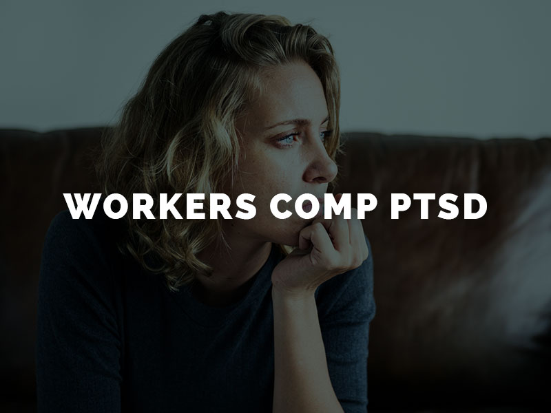 Female worker on couch suffering from PTSD